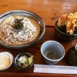 そば処 こぶし - 料理写真:ざるCセット ¥1,000-