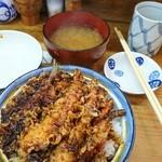 Tempuranakayama - いつもの天丼、黒い