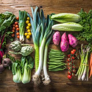 好きなお野菜が選べるディナーを♪オーガニック食材たっぷり◎