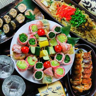 【飲み放題付コース】九州・博多料理が目白押しのコースご用意!
