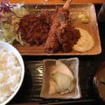 まるいち亭 - ランチ ミックスフライ定食