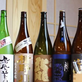 素材や料理を引き立てながら調和する美酒で一層の美味しさを。