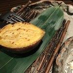 海老の髭 - 安納芋の炭火焼き670円。甘くて美味しい(╹◡╹)