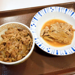 すき家 - 牛丼並盛と豚皿ミニ