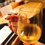 95471560 - オーガニックワインと梅酒で乾杯〜