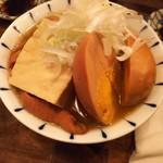 かごっま屋台 火の玉ボーイ - 黒もつ煮+玉子