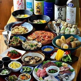 魚・肉・野菜…『食べたい』が叶う、女将の手作り料理で満腹!