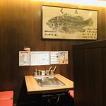 おかる - オーナーは漁師さんなのかな?店内には魚拓が飾られていますよ(*⁰▿⁰*)