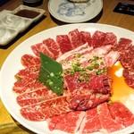 カルビ屋大福 - 謝肉大皿盛6,469円☆既に数枚焼いた後ですが…☆10/18