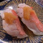 回転寿司 おかべ屋 - 炙り金目