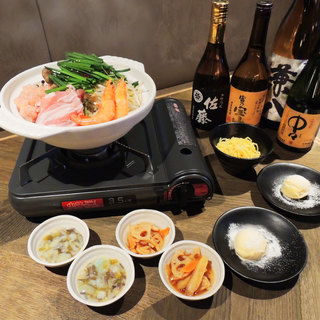 【冬季限定】忘年会に!海老出汁鍋コースご用意しております!