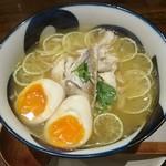 95481465 - 鯛塩すだちラーメン+煮玉子