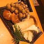 清香園 - キノコ盛