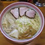 麺切り 白流 - ワンタン麺(塩) 大盛