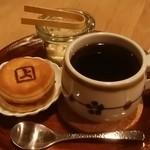 喫茶 上る - ミニどら焼き、ホットコーヒー
