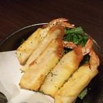 東北料理と柚のかほり 柚柚 - 海老のチーズ巻き