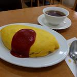 トミーズ キッチン - 料理写真:オムライス大盛り680円(プラス200円)