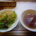 スパゲティハウス - サラダ&スープ(ランチについてます)