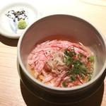 日本焼肉 はせ川 - 冷製和牛のそば仕立て