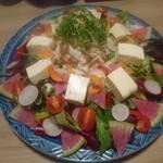 ichidori - 豆腐と地鶏のサラダ