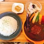 Cray pod soup curry Ohmiya Seiuemon - 京都ぽーく100%ハンバーグのスープカレー