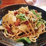 舞天 - 沖縄そば麺のペペロンチーノ風