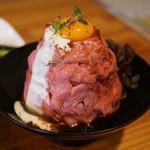 凌駕ドロップス - ローストビーフ丼肉増し