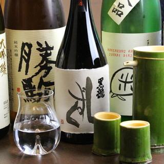 日本酒は常時<7~10本>程度ご用意。お料理に合う美酒ばかり