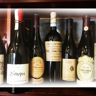 ◇ワイン充実◇全45~50種取り揃え。北イタリア産にこだわり