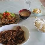 みかげ苑 - 料理写真:焼き肉定食 多分1,100円~1,200円と、単品ジンギスカン 多分600円~700円