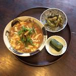 95523335 - ある日の家ランチセット、黒豆の枝豆とめはり寿司