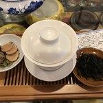 神戸岩茶荘 - 添えられてる小菓子が美味しい♡