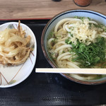 udommura - かけ(大)+玉ねぎ天