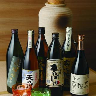 旨い料理には旨い酒◎焼酎・日本酒、日本が誇る銘酒を品揃え!