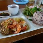 島野菜カフェ Re:Hellow BEACH - ガーリックシュリンププレート