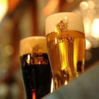 ホール席ご予約特典『エビス3種+月替わりビール』飲み放題♪