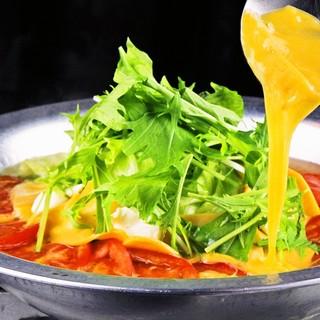 今年も復活〜!とろ〜りチーズトマト鍋♪