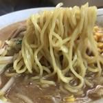 ラーメン55 - 野菜たっぷり味噌ラーメンの麺