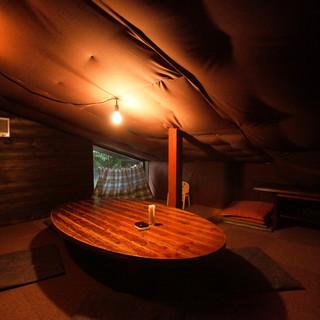 隠れ家的な個室空間
