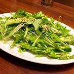 大阪王将 - 水菜とキュウリの和風サラダ