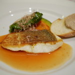 酒+蕎麦 な嘉屋 - 2011/09 スズキのソテー オレンジのブールブランソース