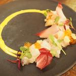 95540741 - 真鯛のカルパッチョ 柚子のアイオリソースとそのジュレ1,100円