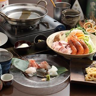温かいお鍋から本格的な会席も◎多彩なコースは3,000円~♪