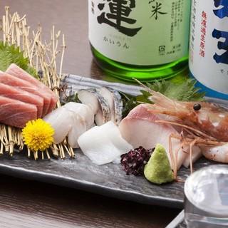 豊洲や日本全国から仕入れる旬の鮮魚