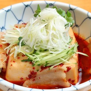 当店人気メニュースタミナ肉豆腐。