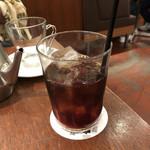 カフェ&ブックス ビブリオテーク - セットのアイスコーヒー♪