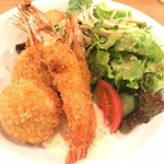 洋食堂 はなや - カニクリーム&海老フライセット(単品)