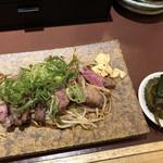 スタンドコロッケ - Bセットのラム肉ステーキと小鉢♪