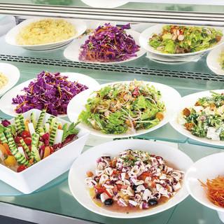 【ディナー/ランチ】サラダ&スイーツブッフェ