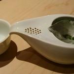 天麩羅とお蕎麦 三輪 - 氷出しの玉露